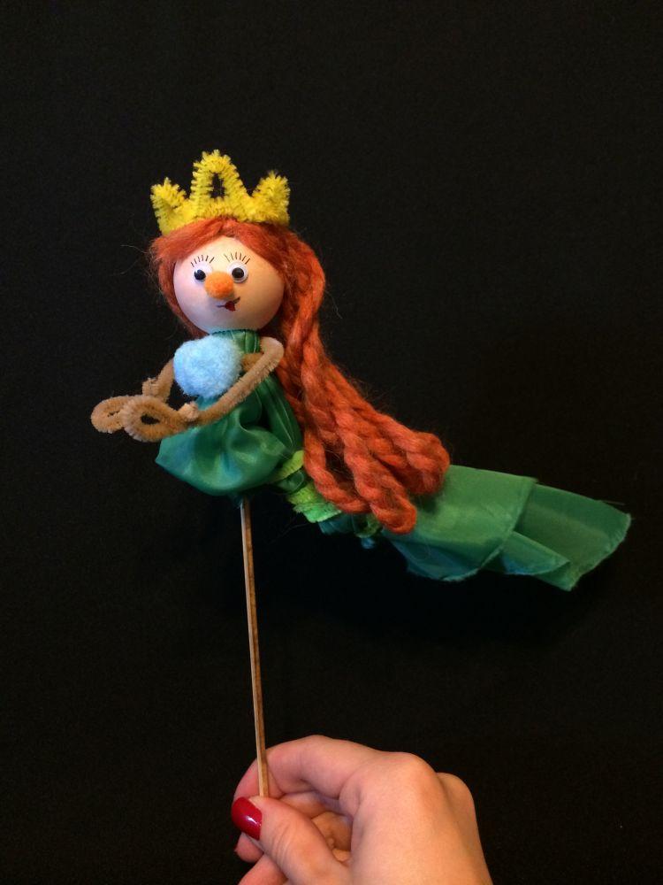 Кукла на палочках своими руками